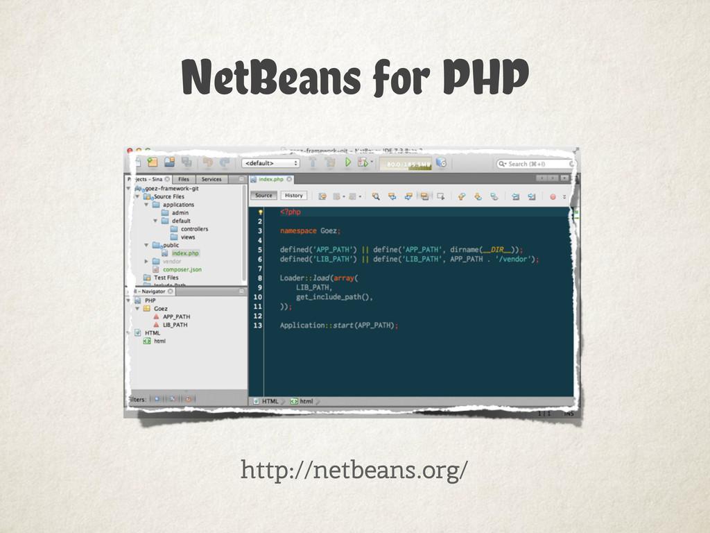 NetBeans for PHP http://netbeans.org/