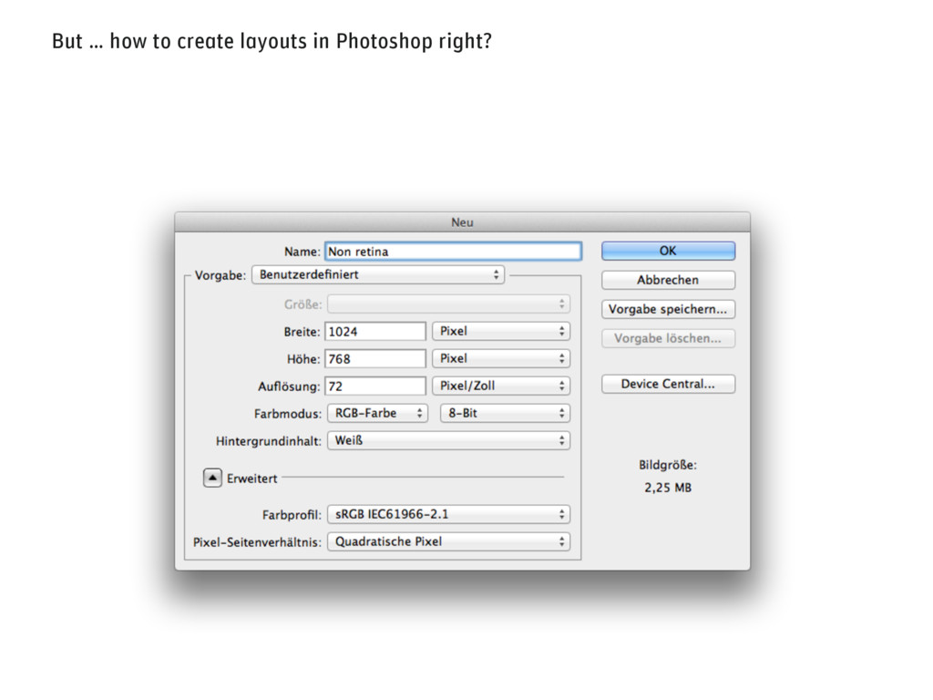 But … how to create layouts in Photoshop right?