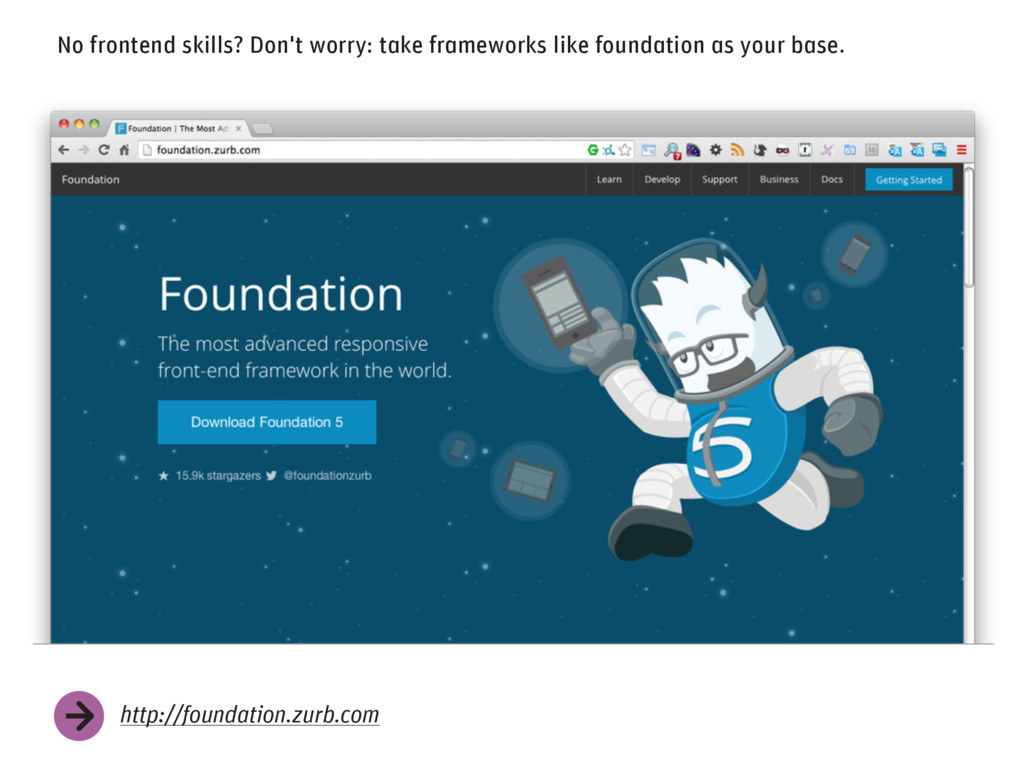 No frontend skills? Don't worry: take framework...