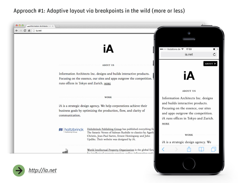http://ia.net Approach #1: Adaptive layout via ...