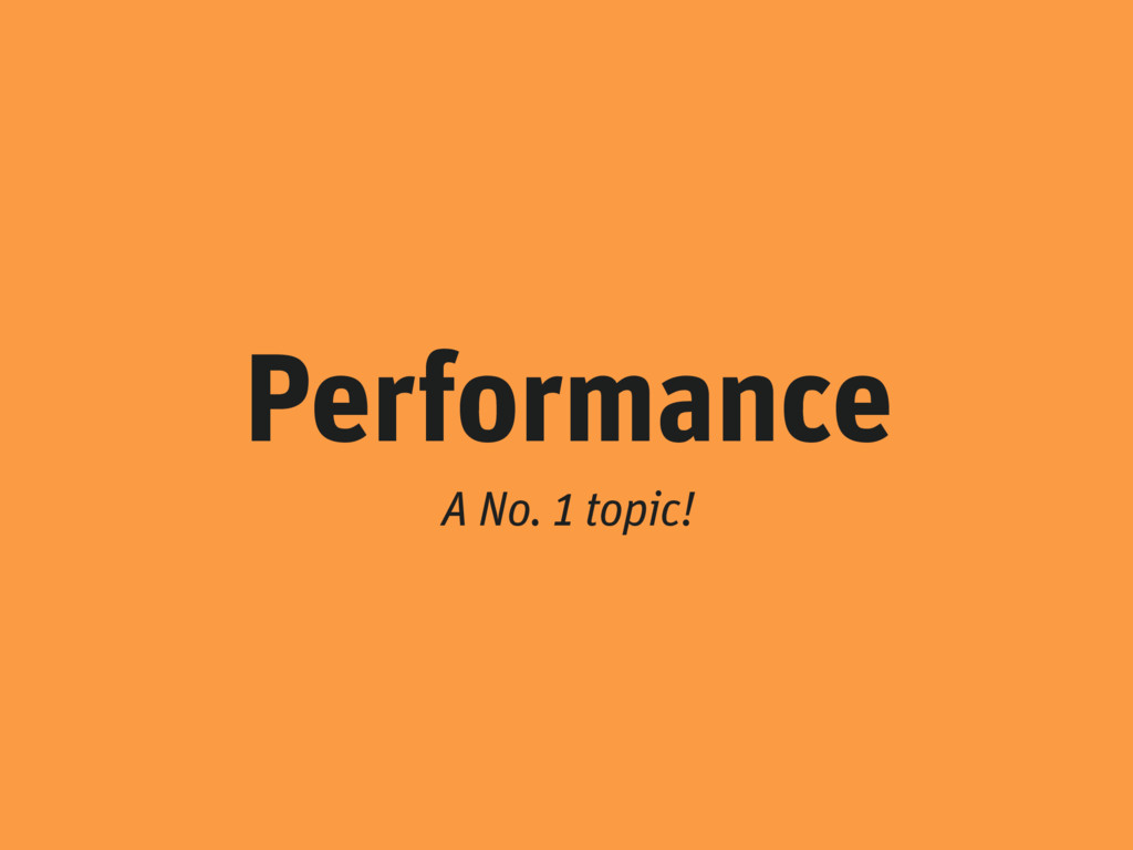 Performance A No. 1 topic!