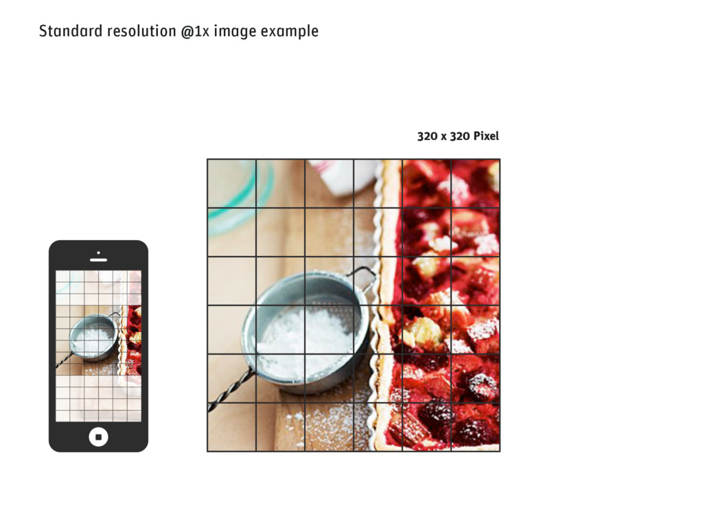 Standard resolution @1x image example 320 x 320...