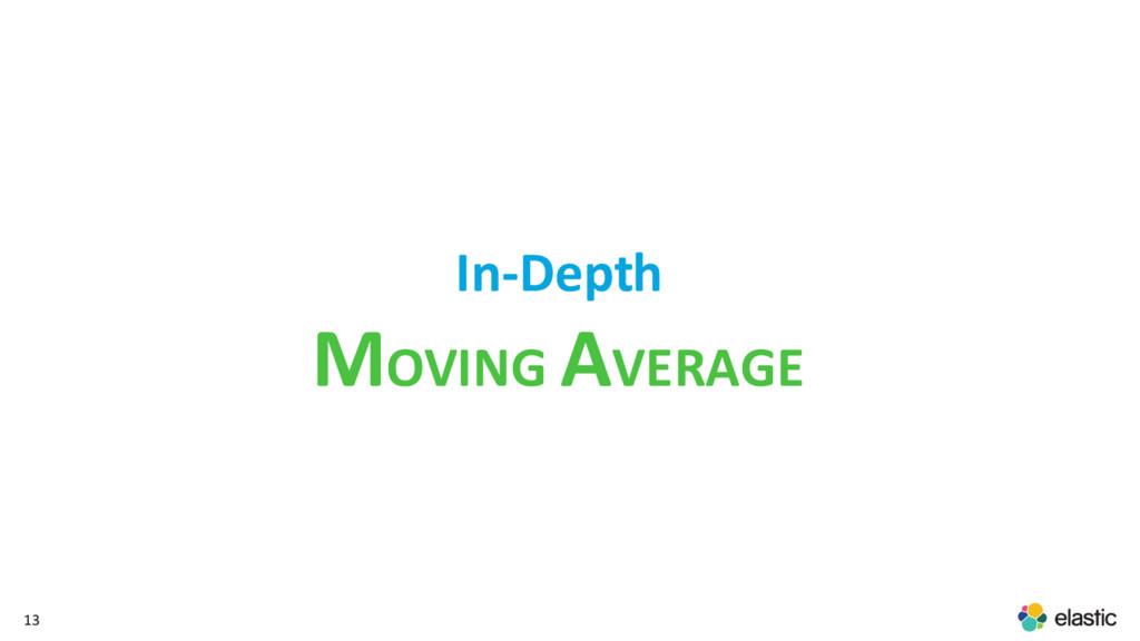 13 In-Depth MOVING AVERAGE