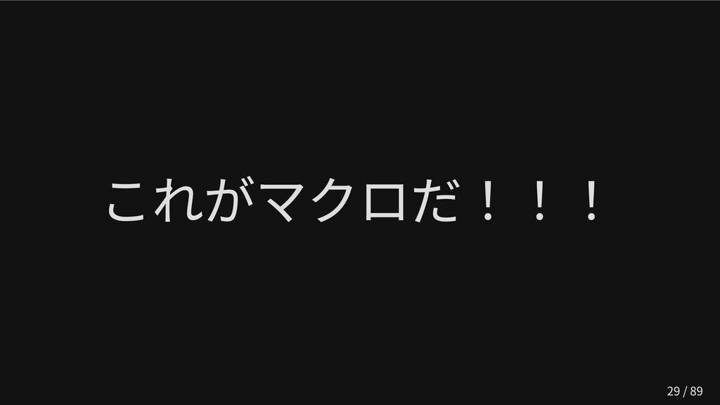 これがマクロだ!!! 29 / 89