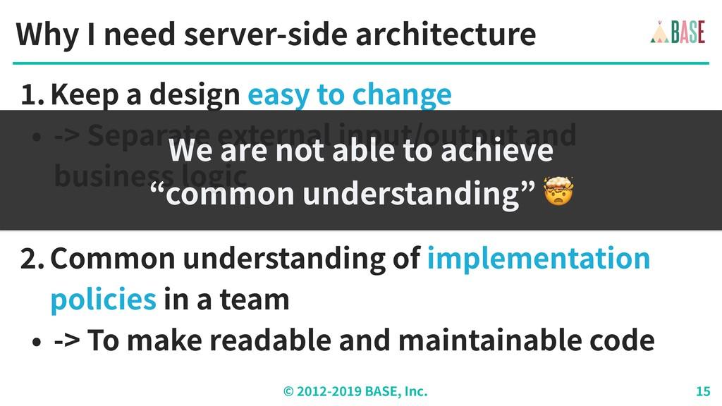 © - BASE, Inc. Why I need server-side architect...