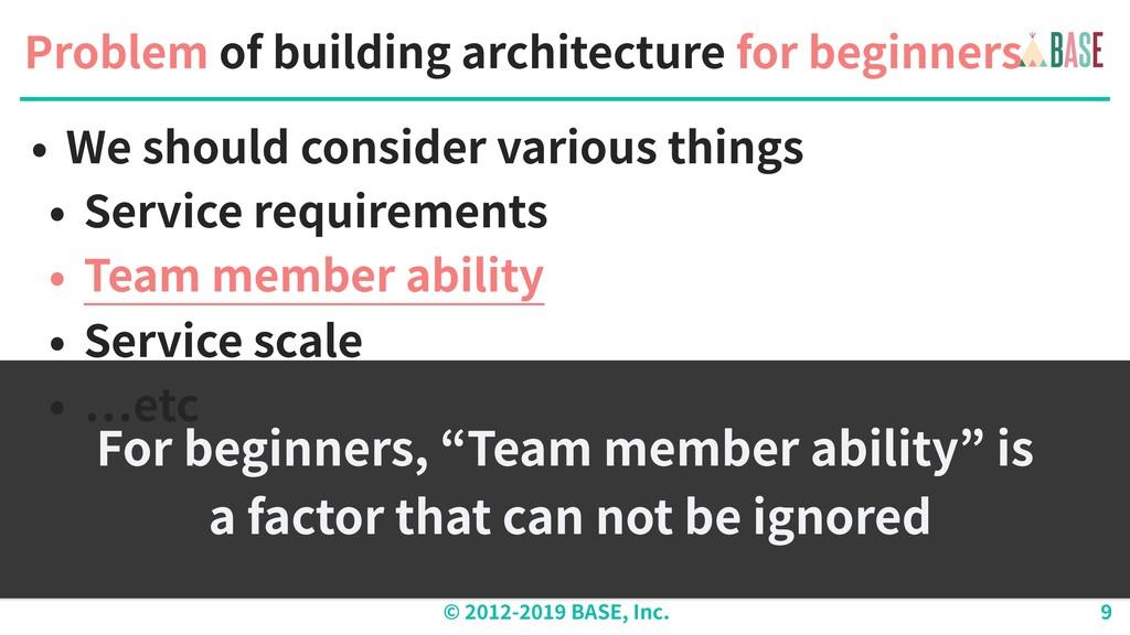 © - BASE, Inc. Problem of building architecture...