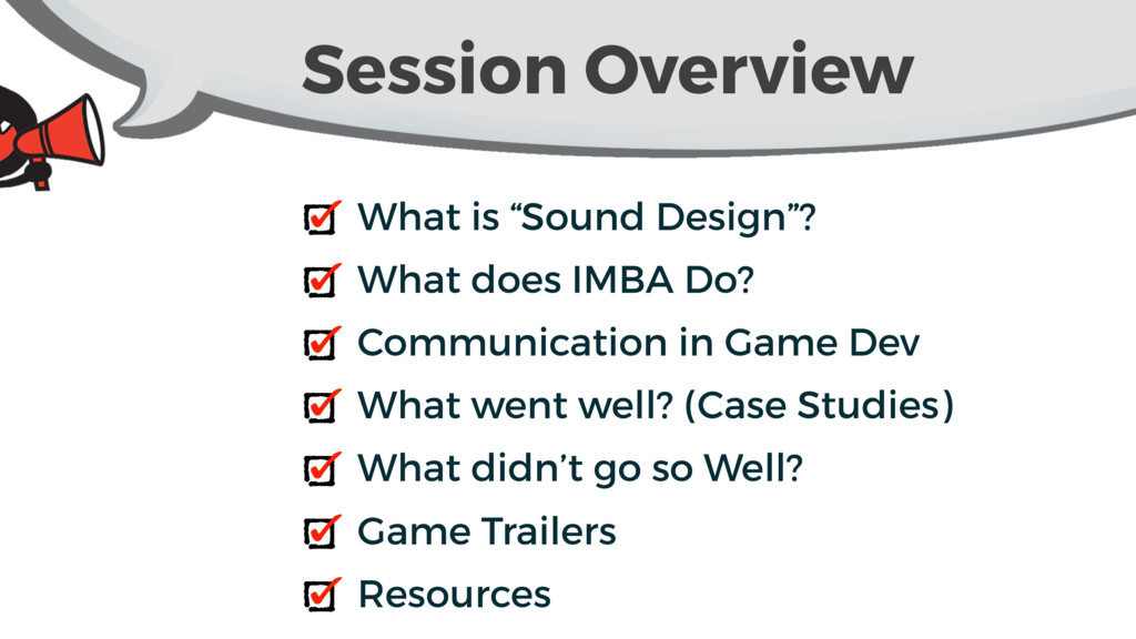 "Session Overview What is ""Sound Design""? What d..."