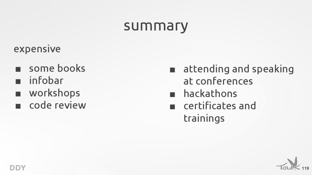 DDY summary ■ attending and speaking at confere...