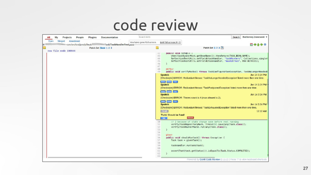 code review 27