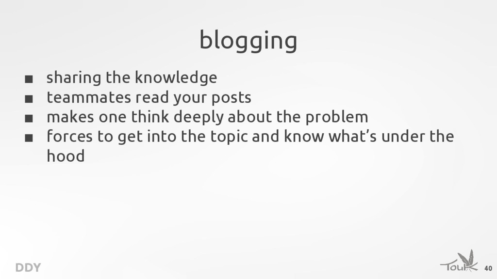 DDY blogging ■ sharing the knowledge ■ teammate...