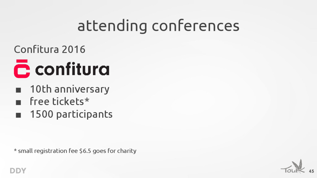 DDY attending conferences Confitura 2016 ■ 10th...