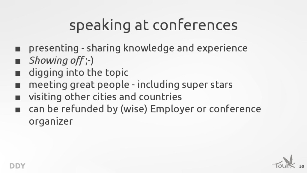 DDY speaking at conferences ■ presenting - shar...