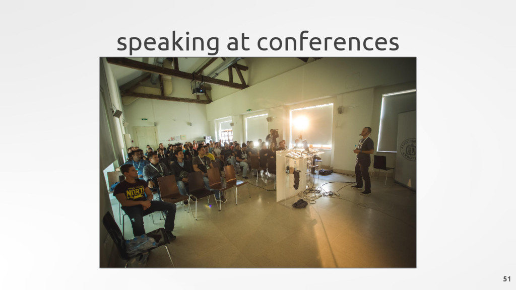 speaking at conferences 51