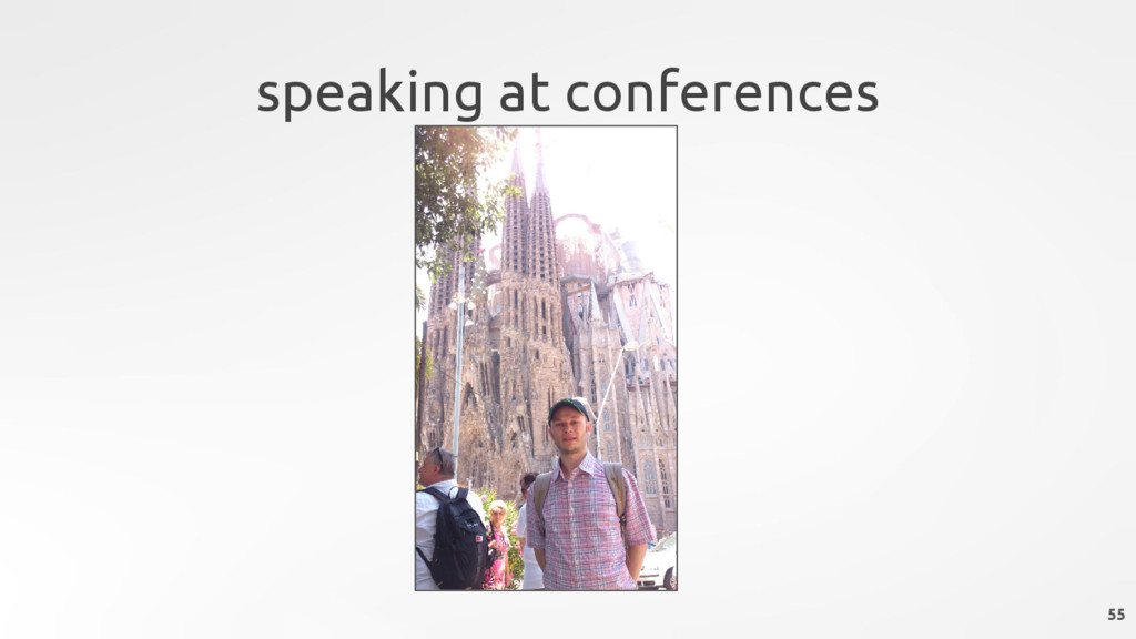 speaking at conferences 55