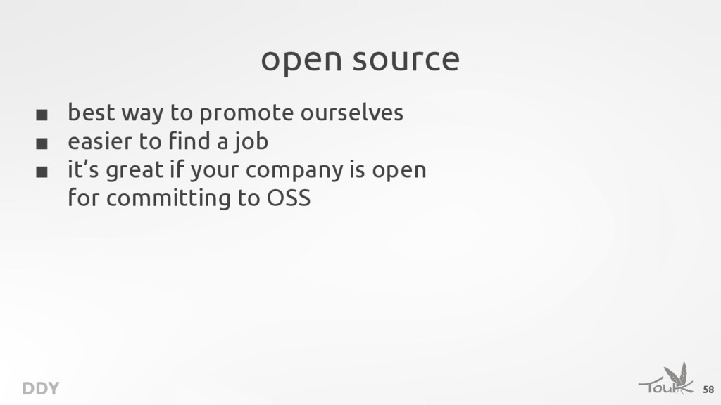 DDY open source ■ best way to promote ourselves...
