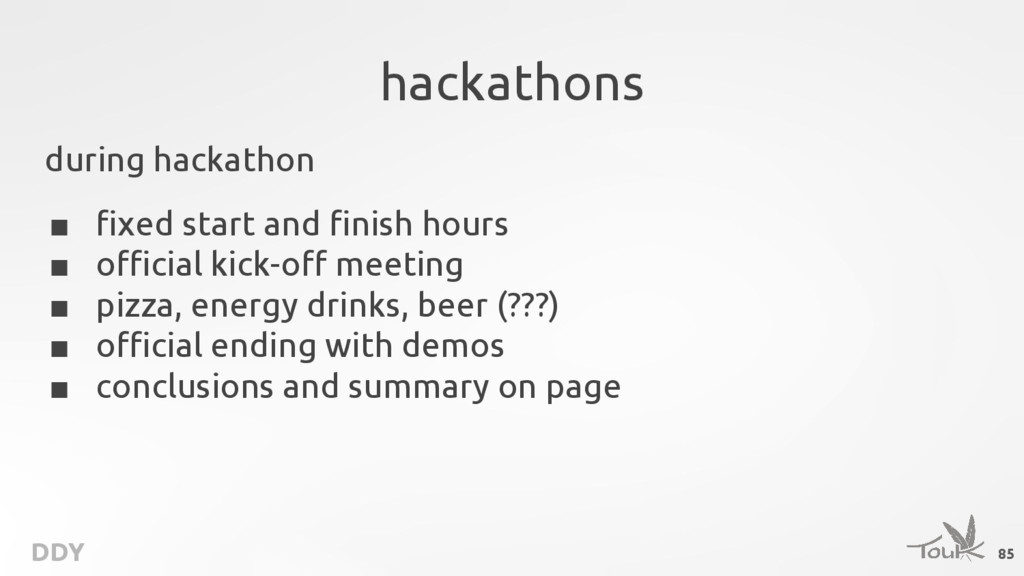 DDY hackathons during hackathon ■ fixed start a...