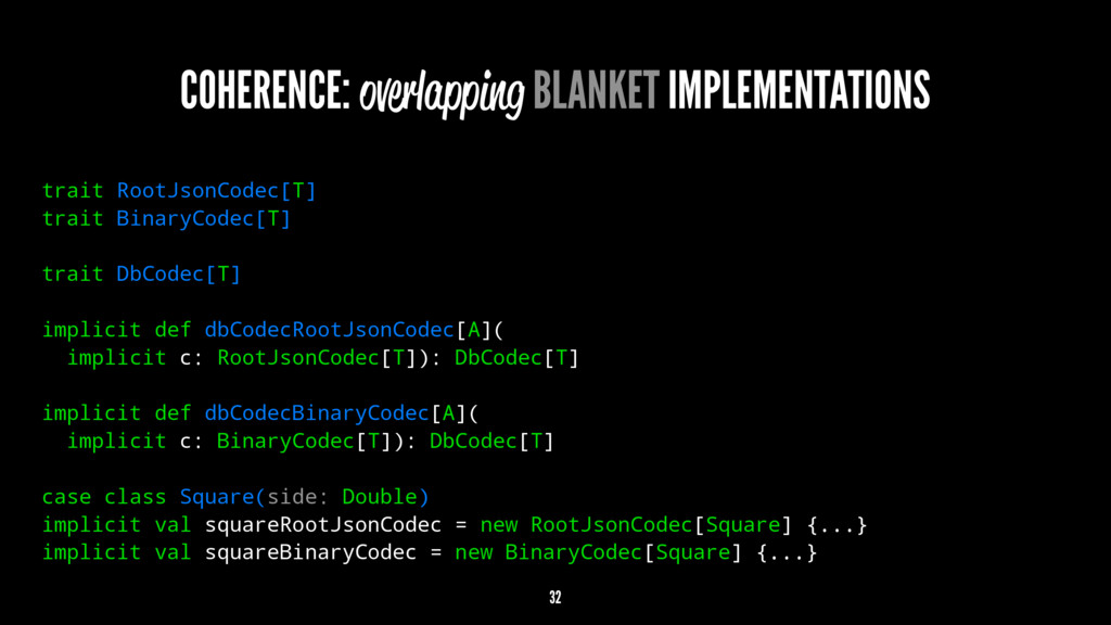 COHERENCE: overlapping BLANKET IMPLEMENTATIONS ...