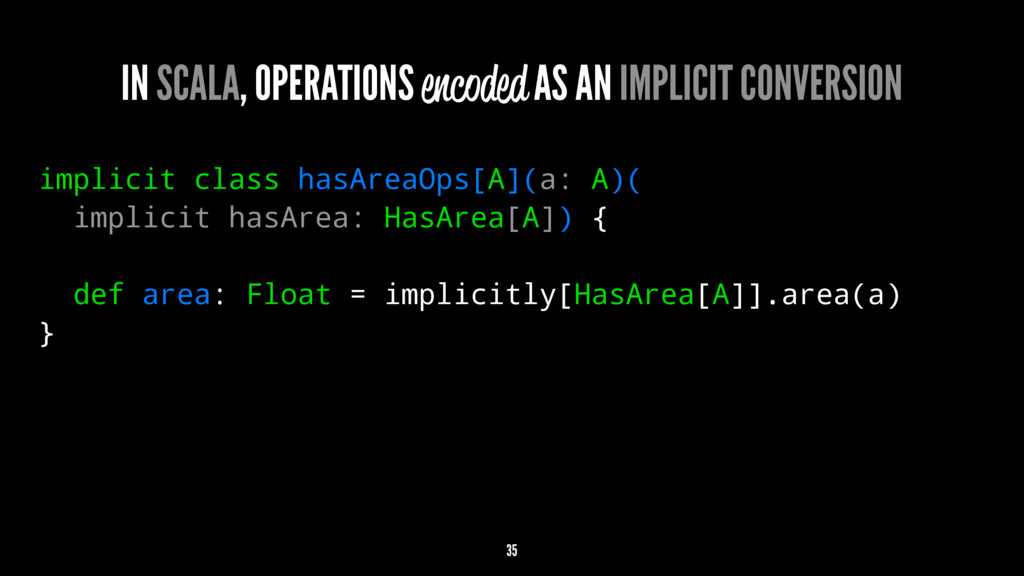 IN SCALA, OPERATIONS encoded AS AN IMPLICIT CON...