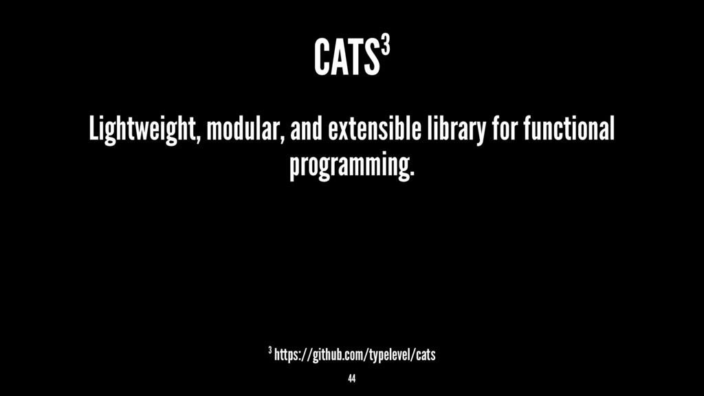 CATS3 Lightweight, modular, and extensible libr...