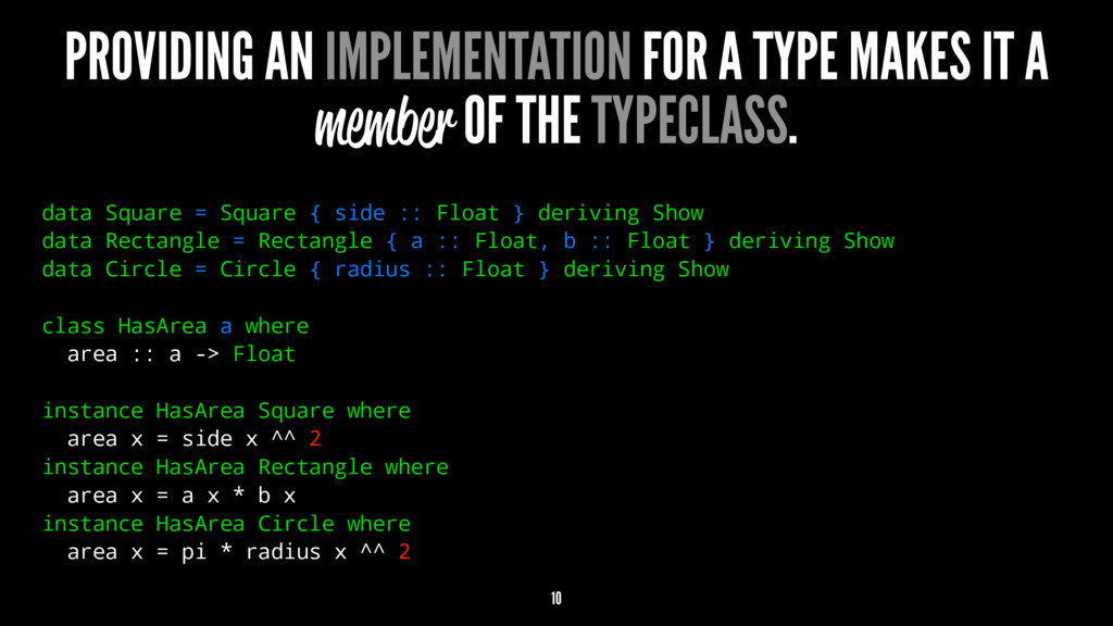 PROVIDING AN IMPLEMENTATION FOR A TYPE MAKES IT...