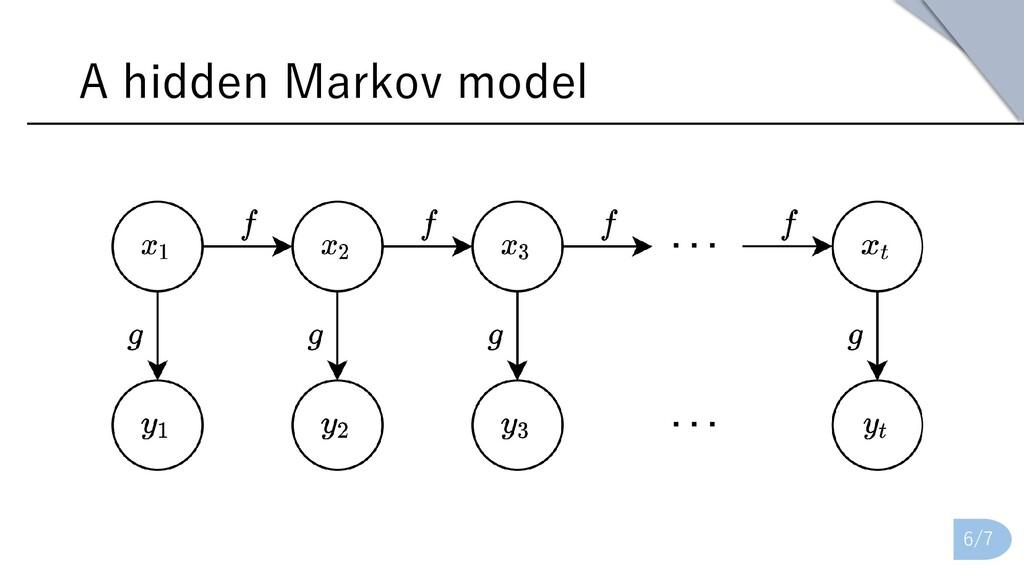 A hidden Markov model 6/7
