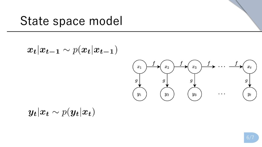 State space model 6/7