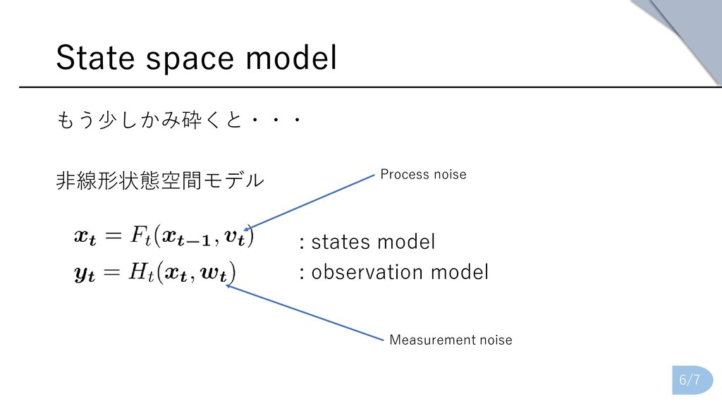 State space model もう少しかみ砕くと・・・ 非線形状態空間モデル : sta...