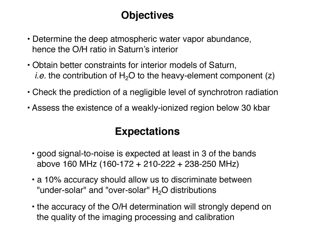 Objectives • Determine the deep atmospheric wat...