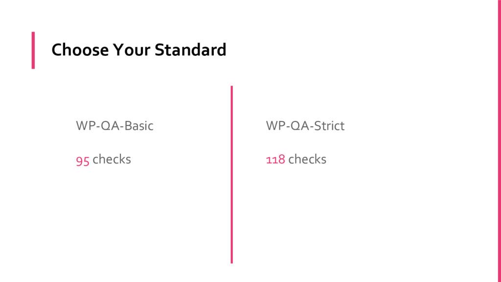 Choose Your Standard WP-QA-Basic 95 checks WP-Q...