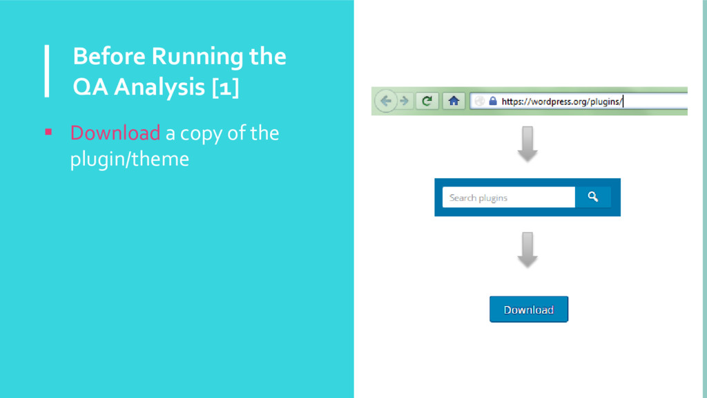 Before Running the QA Analysis [1]  Download a...