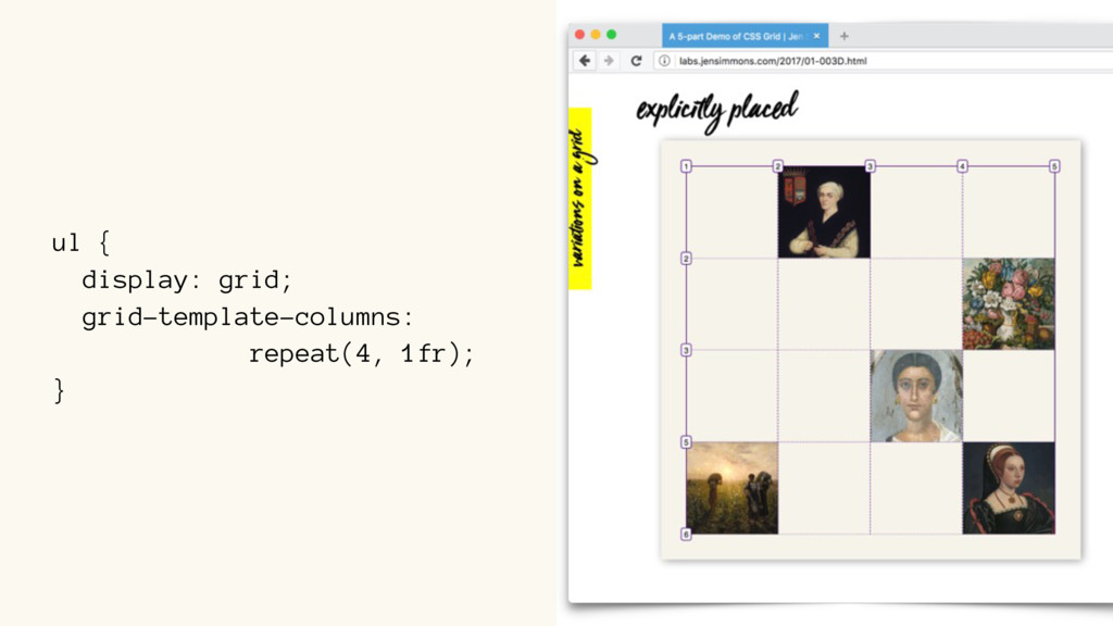 ul { display: grid; grid-template-columns: repe...