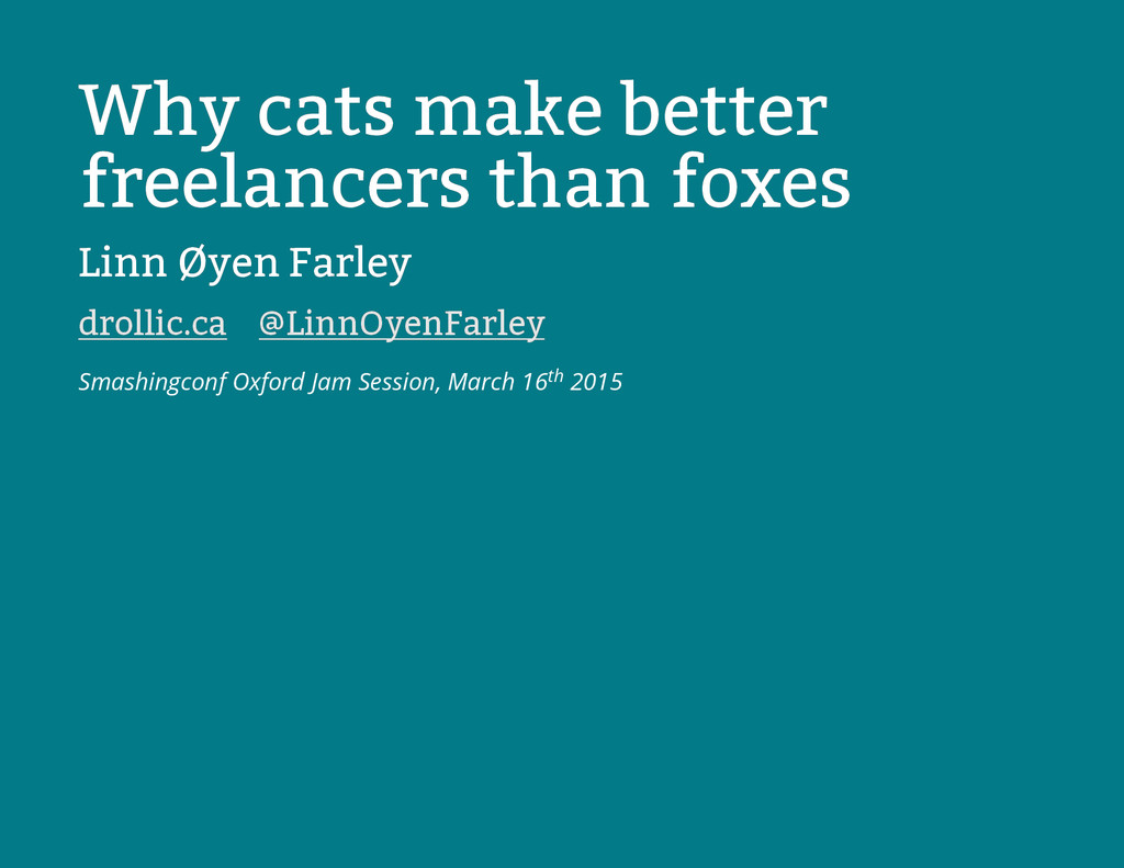 Why cats make better Why cats make better freel...