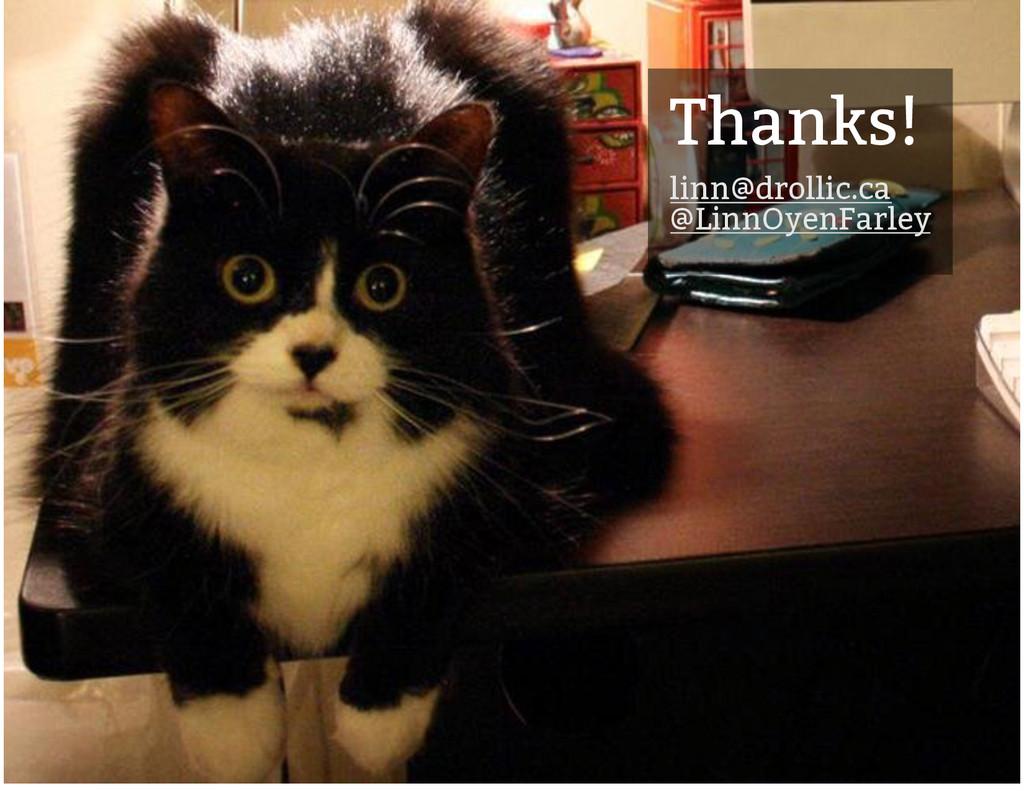 Thanks! Thanks! linn@drollic.ca linn@drollic.ca...