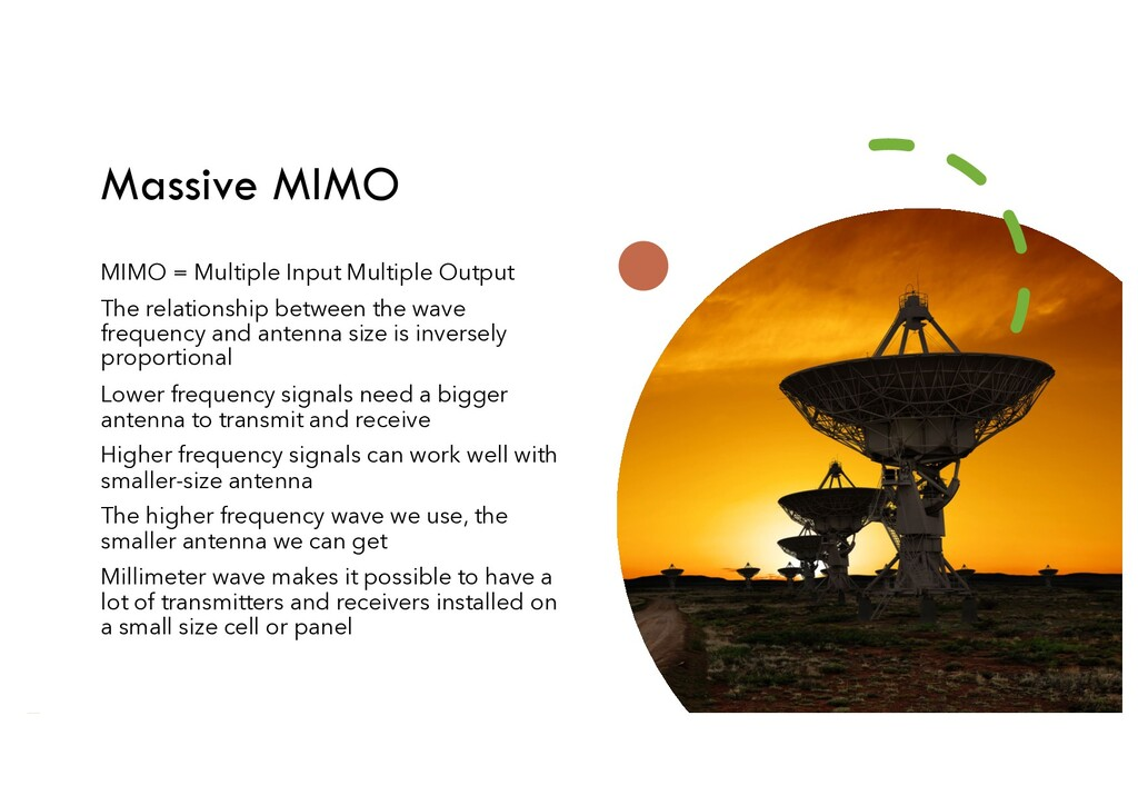 Massive MIMO MIMO = Multiple Input Multiple Out...