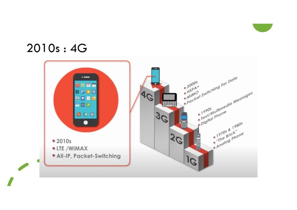2010s : 4G