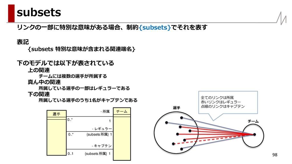 リンクの一部に特別な意味がある場合、制約{subsets}でそれを表す 表記 {subsets...