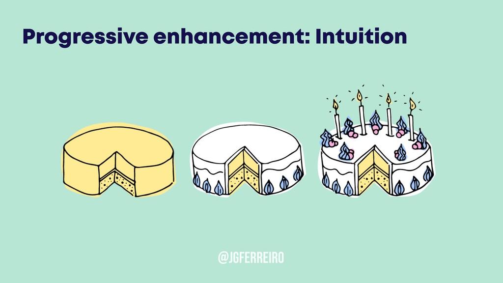 @JGFERREIRO Progressive enhancement: Intuition