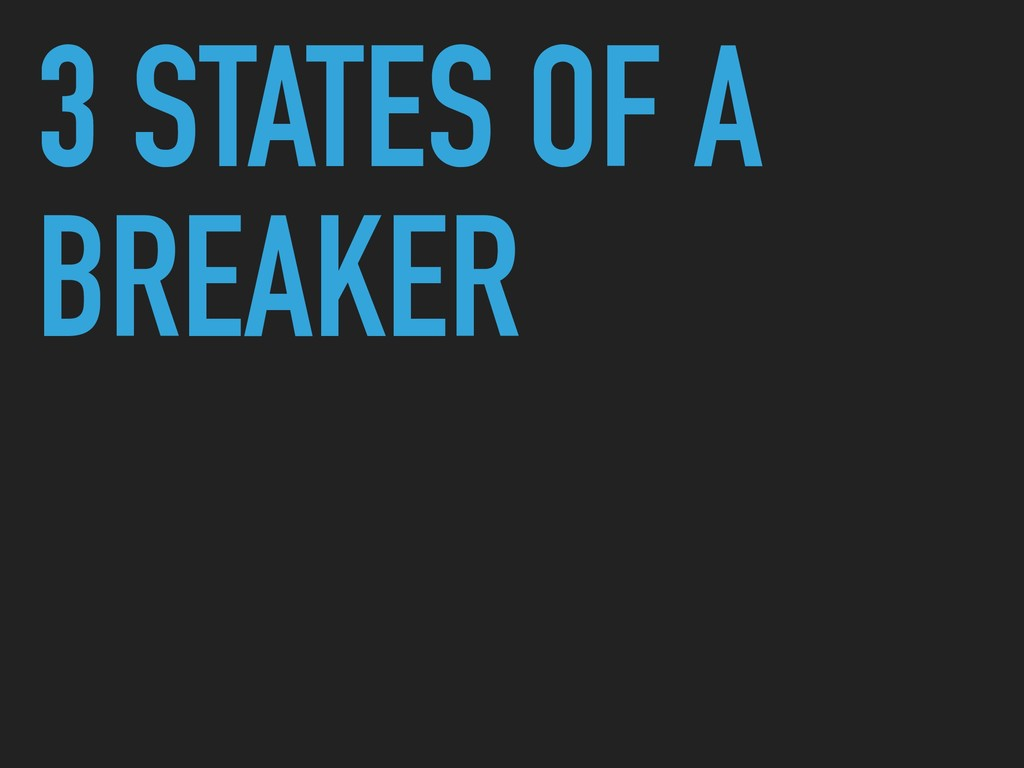 3 STATES OF A BREAKER