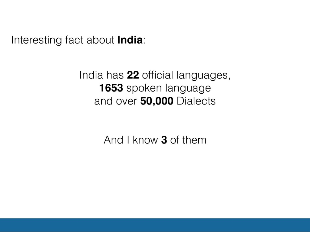 Interesting fact about India: India has 22 offic...
