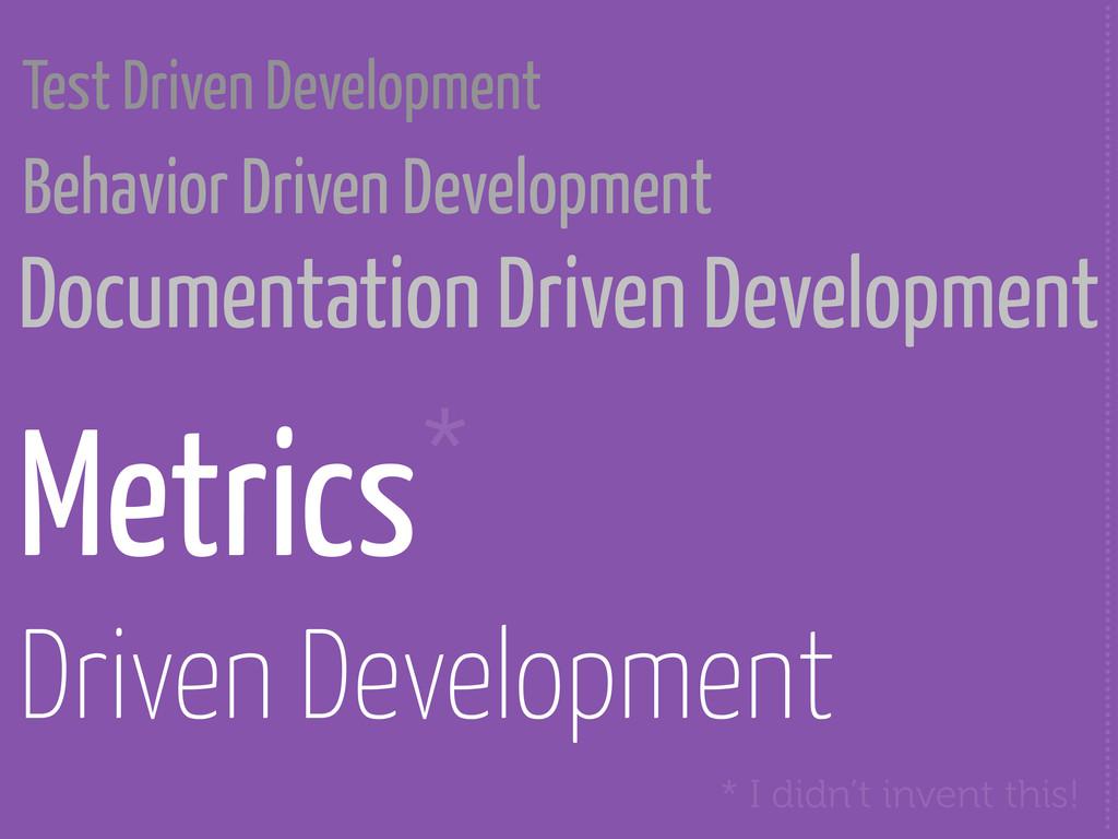 Documentation Driven Development .................
