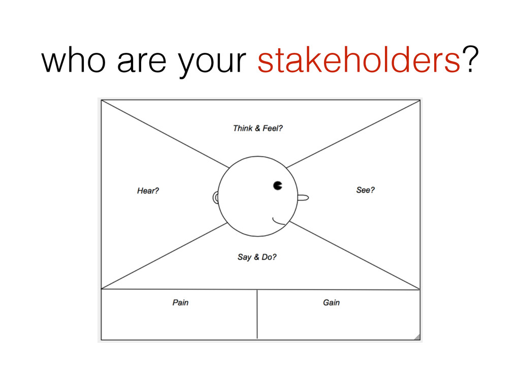 who are your stakeholders?