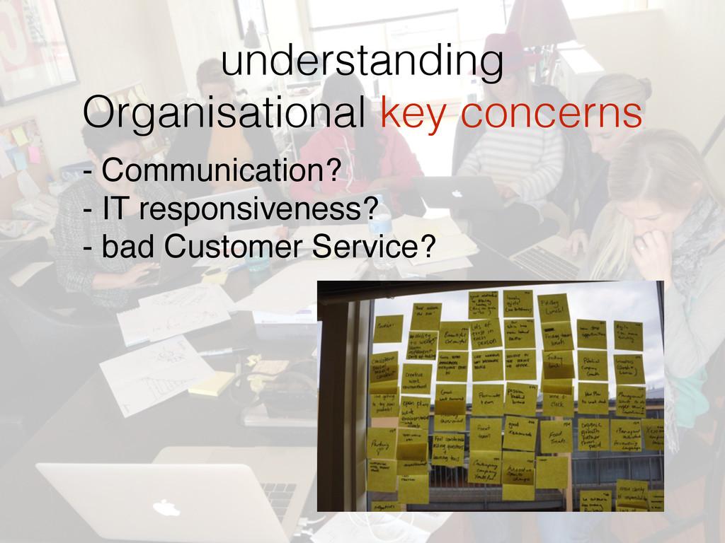 understanding  Organisational key concerns - C...