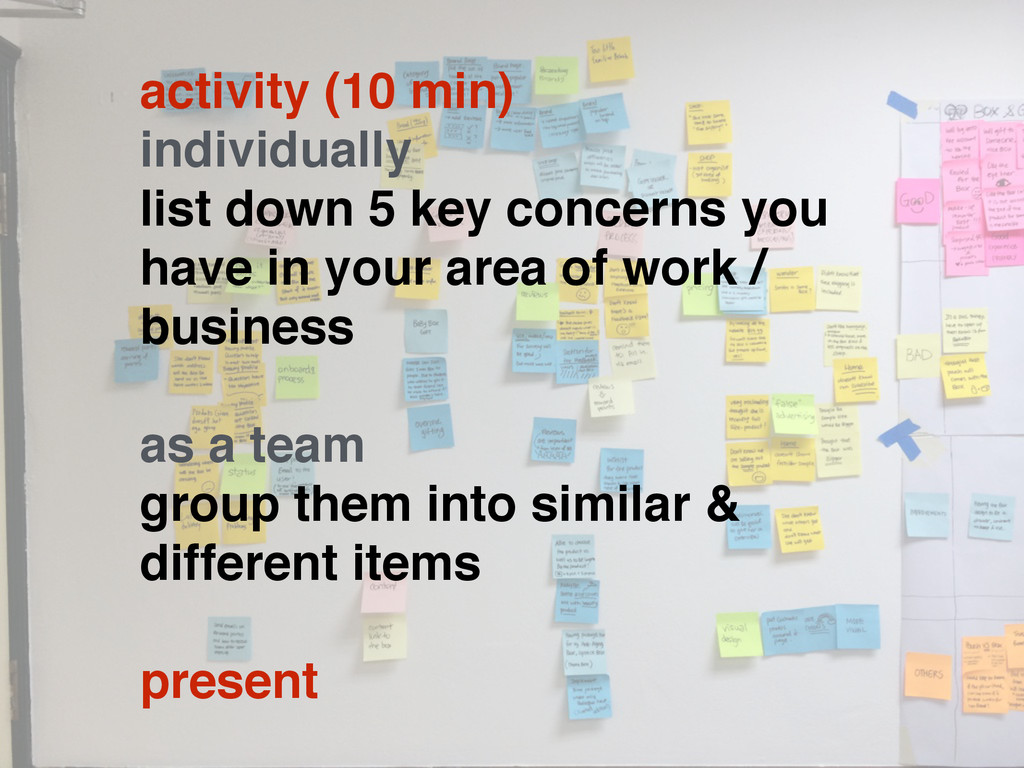 activity (10 min) individually list down 5 key ...