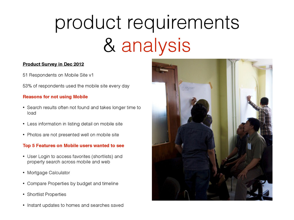 product requirements & analysis Product Survey ...