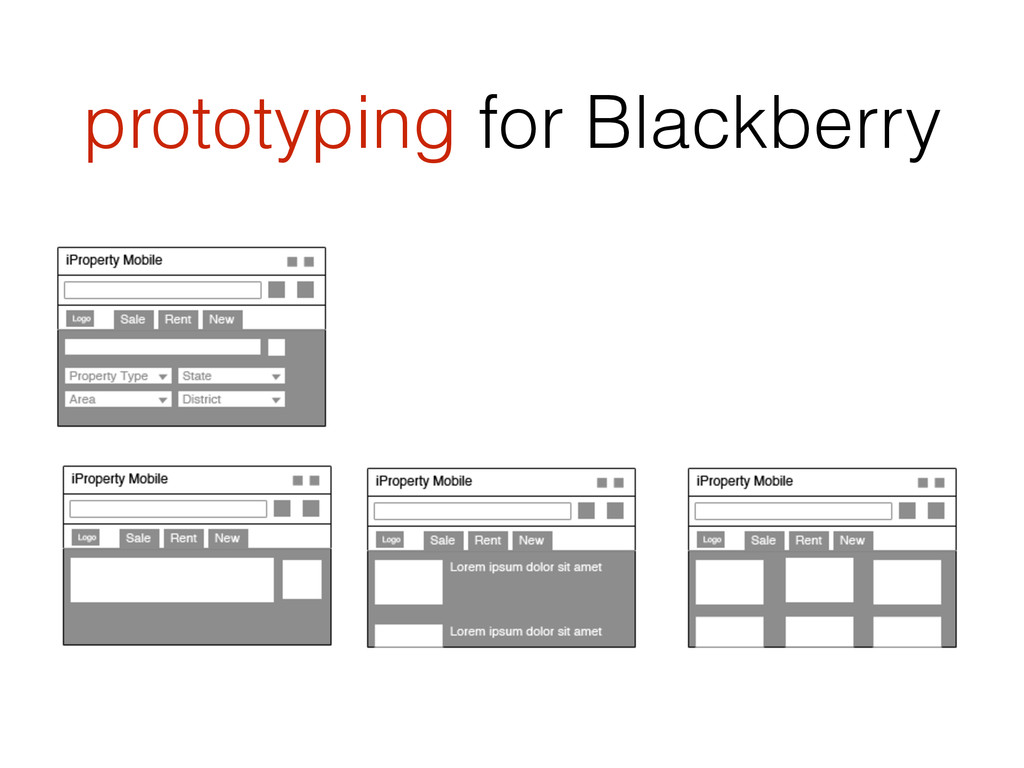 prototyping for Blackberry