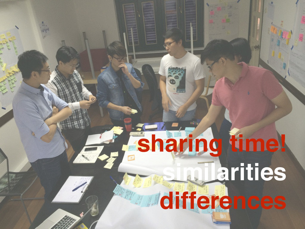 sharing time! similarities differences