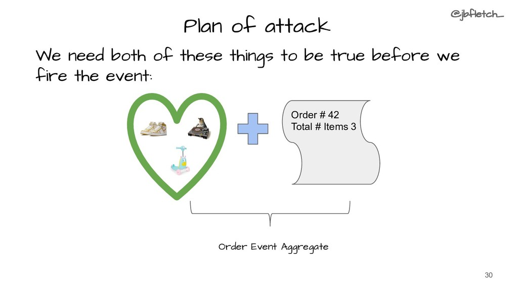Plan of attack 30 We need both of these things ...