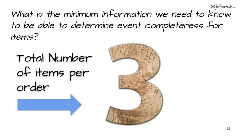 What is the minimum information we need to know...