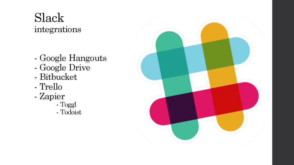 Slack integrations - Google Hangouts - Google D...