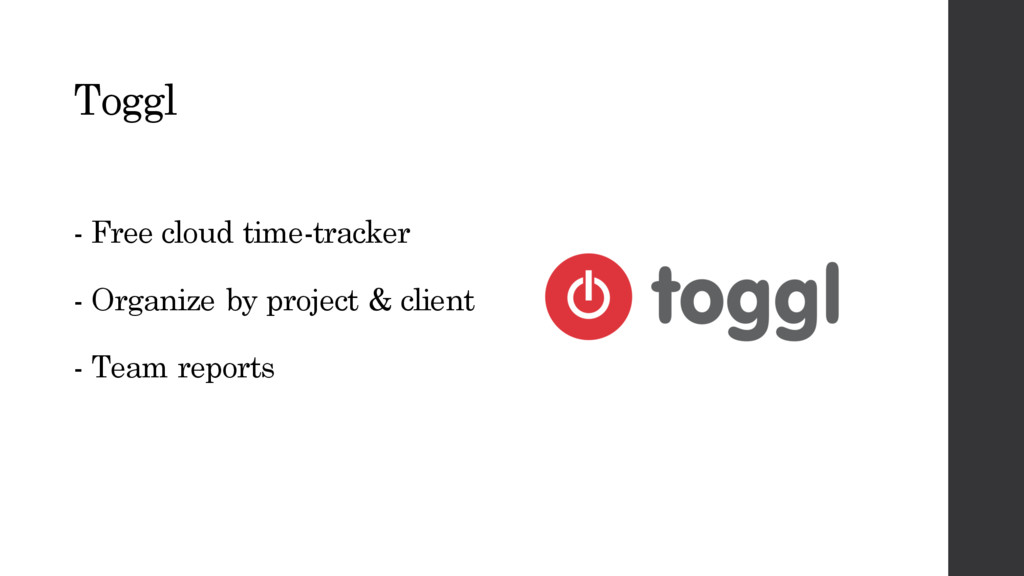 Toggl - Free cloud time-tracker - Organize by p...